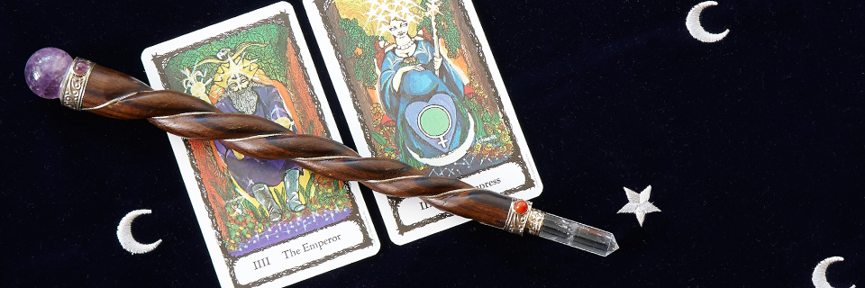 Sacred Rose Tarot wand goddess slider
