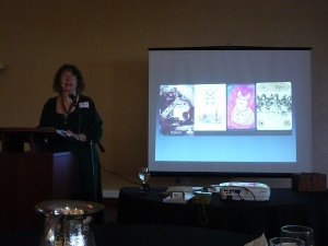 Mary K. Greer talking about Lenormand, specifically the (uncute) mice card