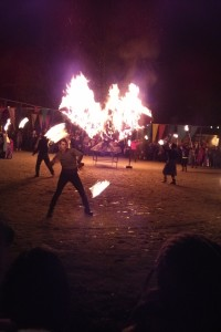 Fiery finale at Red Pepper Spectacle Arts Kensington Solstice Fest 2014