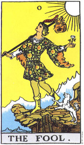 The Fool card from the Rider-Waite-Smith Tarot deck