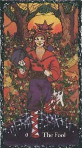 The Fool, Sacred Rose Tarot