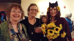 With Mary K. Greer and Rachel Pollack, dressed as the Queen of Wands and her cat