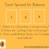 Tarot Spread for Balance
