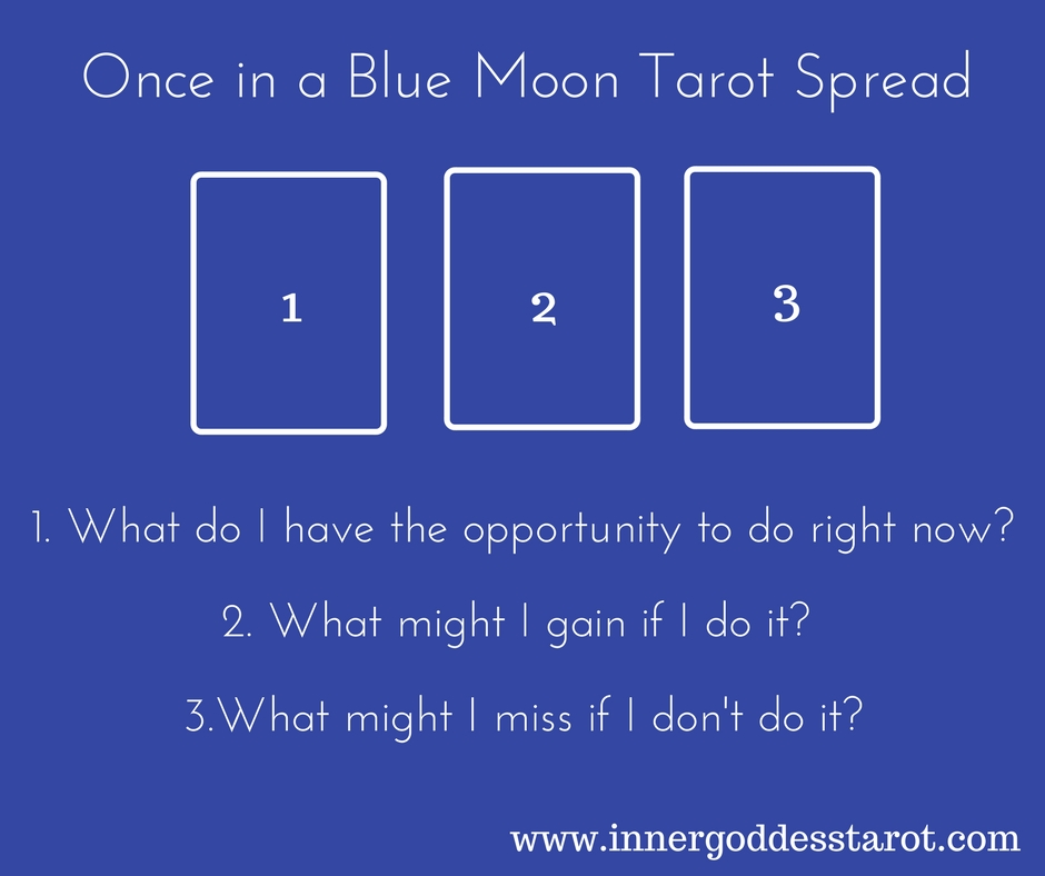 Once in a Blue Moon Tarot Spread