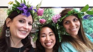 Three of Cups Witch is IN Beltane Flower crowns