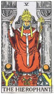 Hierophant card Tarot