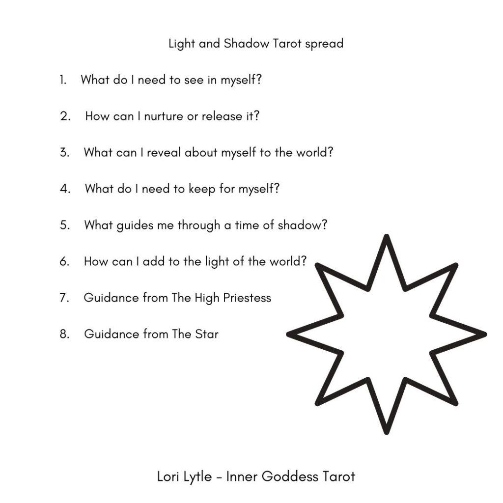 Light and Shadow Tarot spread